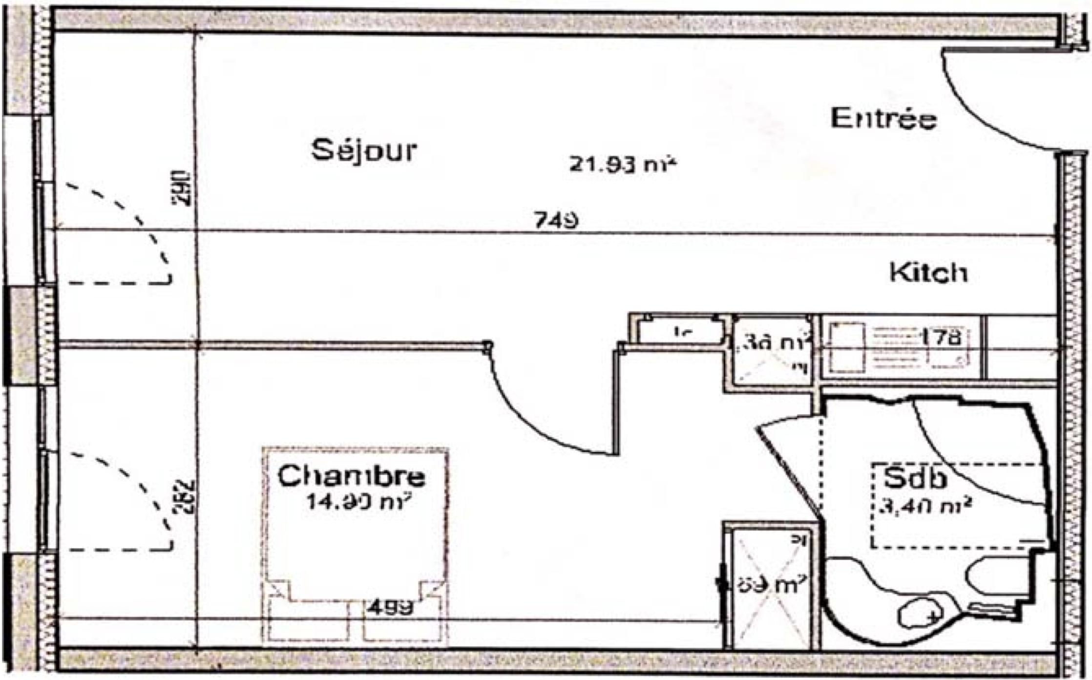 Schéma de l'appartement